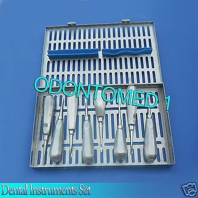 Dental Elevator Human And Veterinary Set With Sterilisation Tray Various Dn-529
