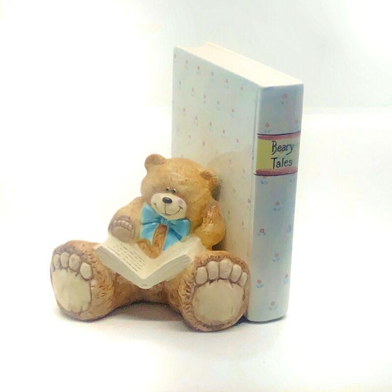 Single Teddy Bear Ceramic Bookend Beary Tales Baby Nursery Decor