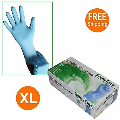 Sunnycare 8804 Nitrile Disposable Gloves Powder Free Latex Vinyl Free 100 -xl