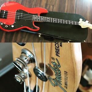 1991 Fender Precision Bass w/ Leo Quan Badass ii + Case