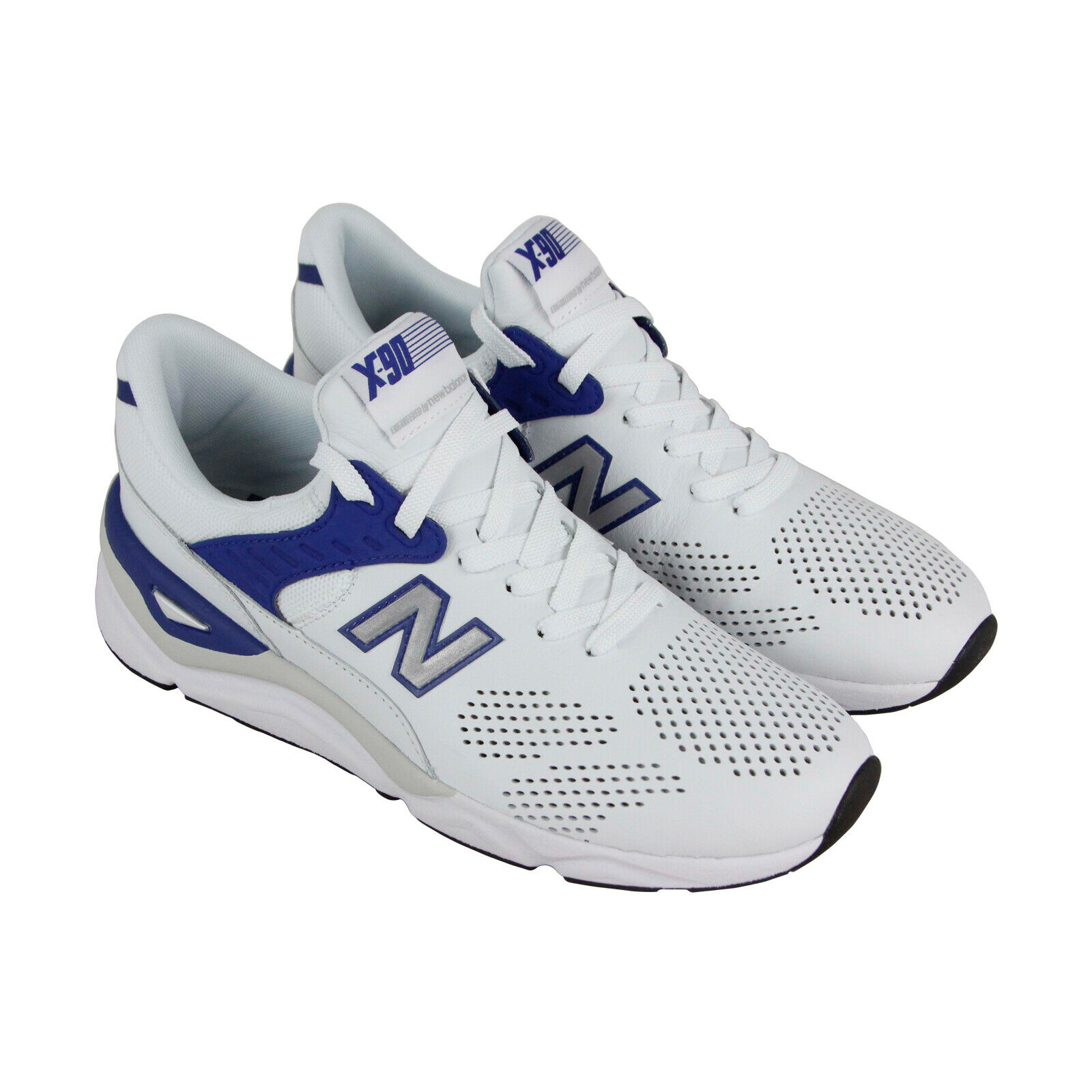 New Balance X-90 MSX90HTA Mens White Leather Casual Low Top Sneakers Shoes