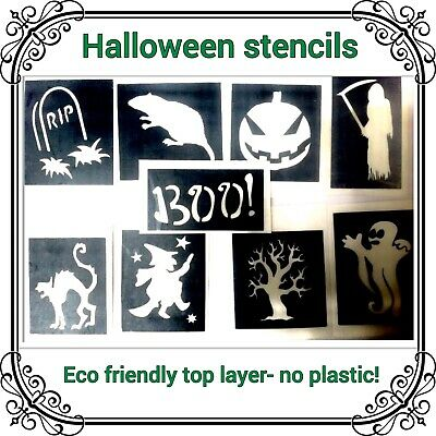 10 halloween stencils RIP BOO top up your glitter tattoo kit face painting