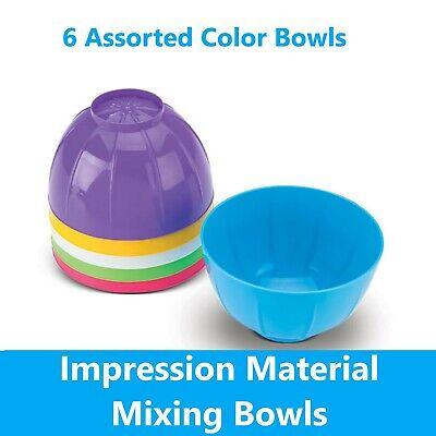 Dental Impression Material Disposable Mixing Bowls - 6bag Assorted Colors