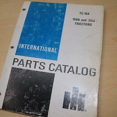 Ih International 1566 1568 Tractor Parts Manual Book Spare Catalog Farm List