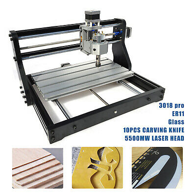 3 Axis Mini Pro Machine Router Cnc Desktop Laser Engraving Machine Pcb Wood