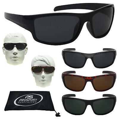 Polarisiert Anti Blendung Sonnenbrille Fischen Golf Fahren Motorrad Wrap Schwarz