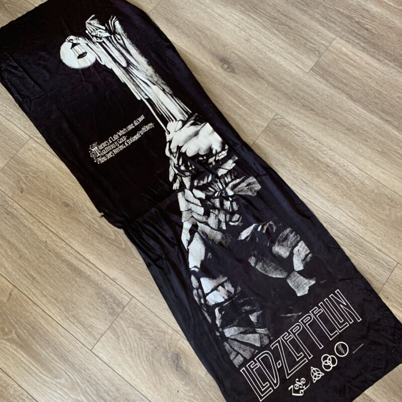 Vintage Rare LED ZEPPELIN Zoso Stairway To Heaven Silk Record Store Banner 68x22
