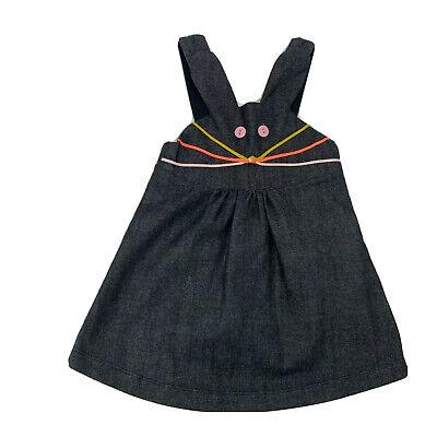 Bng Bang Copenhagen Toddler Girls Denim Bunny Dress Frock Size 3-4 Year Jumper