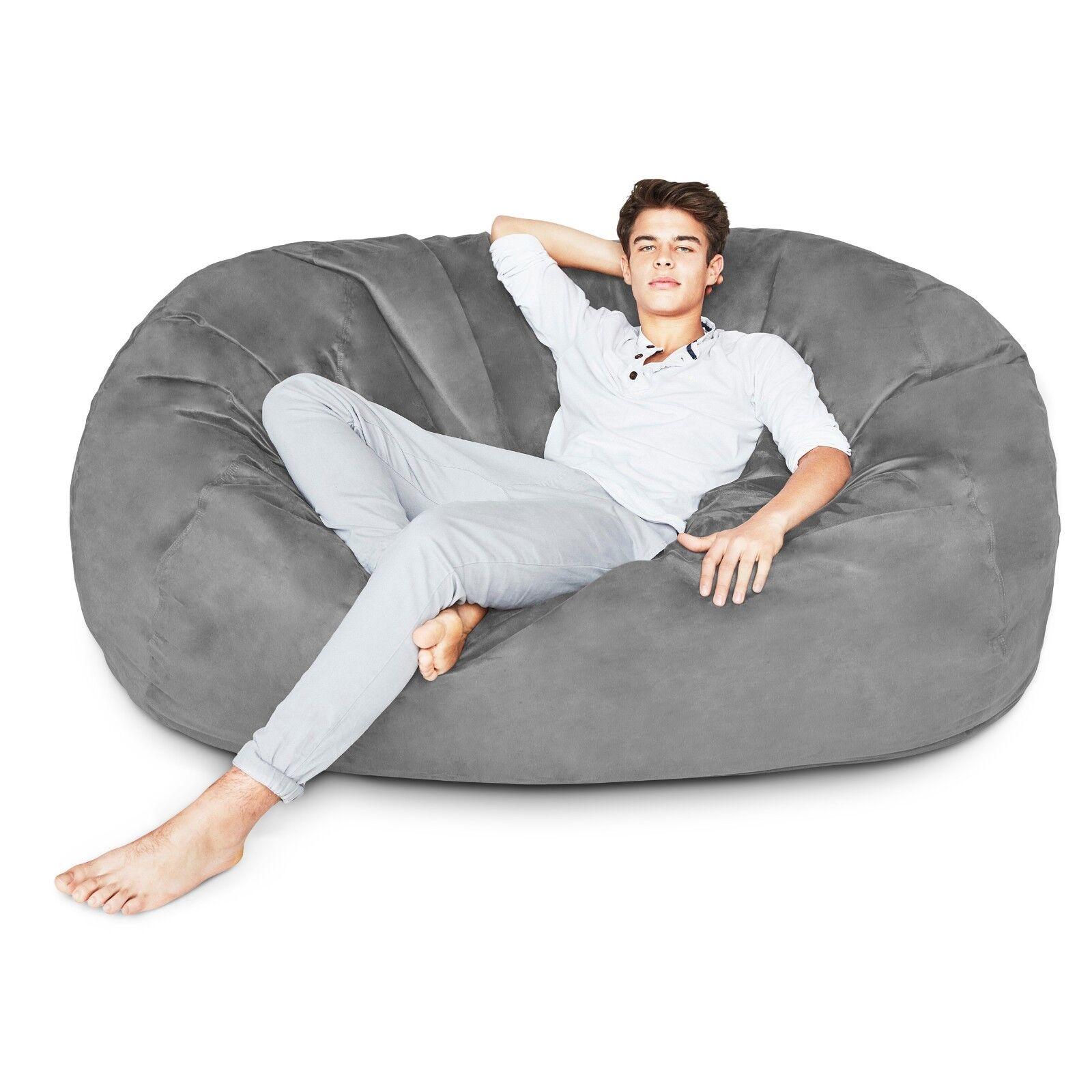 Large Adult Bean Bag Chair 6ft Foam filled Oversize Sleeper