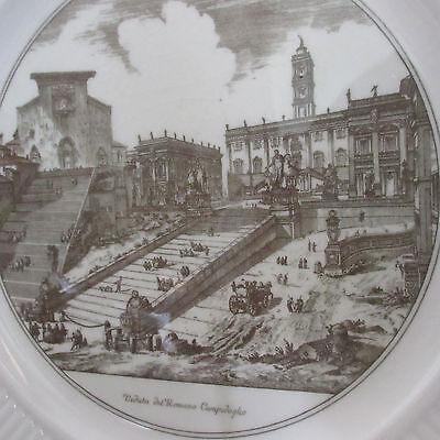 "Vintage Wedgwood Etruria Barlaston Edme 10.5"" Ivory Gray Dinner Plate Rome Vista"