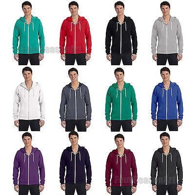 Bella Hooded Sweatshirt - Bella Canvas - Unisex Full-Zip Hooded Sweatshirt Mens Womens Zipped Hoodie -3739