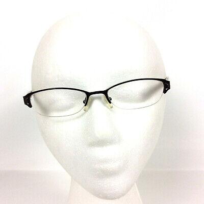 Nine West Attitude Rx Eyeglass Glasses Frames 140 52 18 Bronze Metal Half (Attitude Glasses Frames)