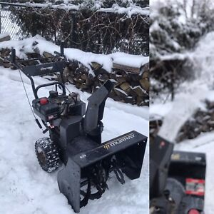 """Murray snowblower. 8hp 24"""" auger with e- start.  All tuned up"""