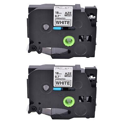 2pk Tze241 Tz241 Black On White Label Tape For Brother P-touch Pt-1880sc 34