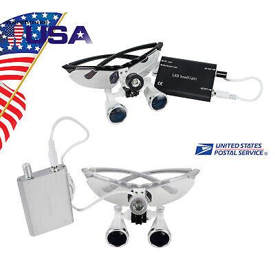Usa 3.5x420mm Dental Surgical Binocular Loupes Magnifer Optical Glass Headlight