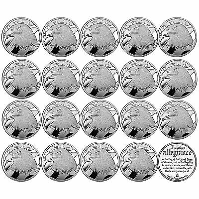 Sale Price   Pledge Of Allegiance Silver Eagle 1Oz By Silvertowne Lot Of 20