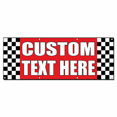 Custom Text Here Auto Body Shop Car Repair Banner Sign 2 Ft X 4 Ft W 4 Grommets
