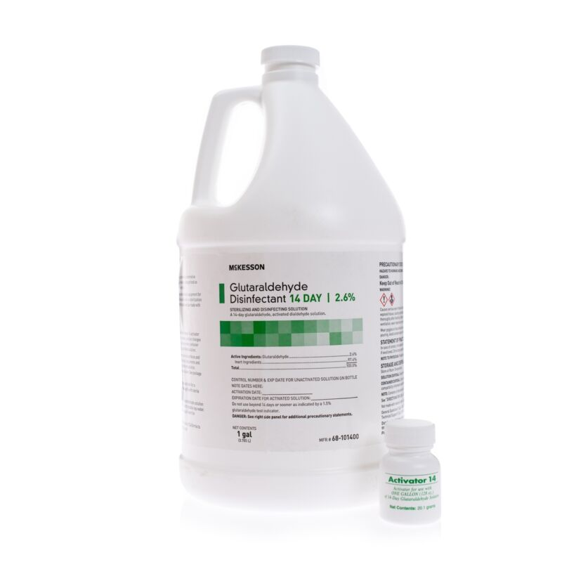 McKesson 14 Day Glutaraldehyde High-Level Disinfectant 1 gal. 1 Ct