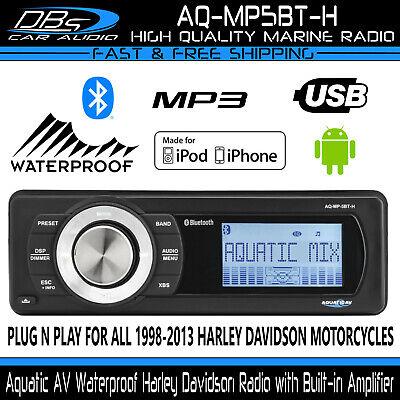 Aquatic AV Harley Davidson Motorcycle Waterproof Stereo Reciever Radio AQ-MP5BT