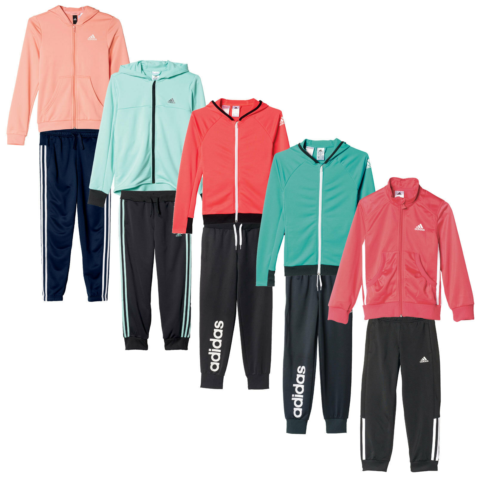 adidas Performance Mädchen-Jogginganzug Trainingsanzug Sportanzug Set Kinder NEU