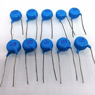 Us Stock 10pcs Ceramic Disc Capacitors 1000pf 1nf 0.001uf 102 15000v 15kv