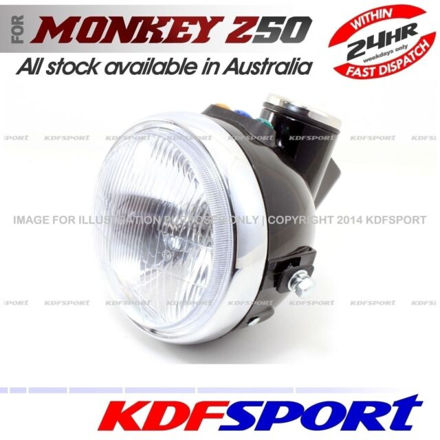 KDF HEADLIGHT LIGHT SPEEDO METER FRONT BLACK 50 BULB FOR HONDA MONKEY Z50 Z50J