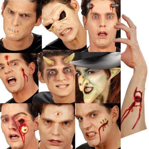 Halloween 3D MAKE UP FX Latex Costume NASO OCCHI CORNA FERITE SCARS