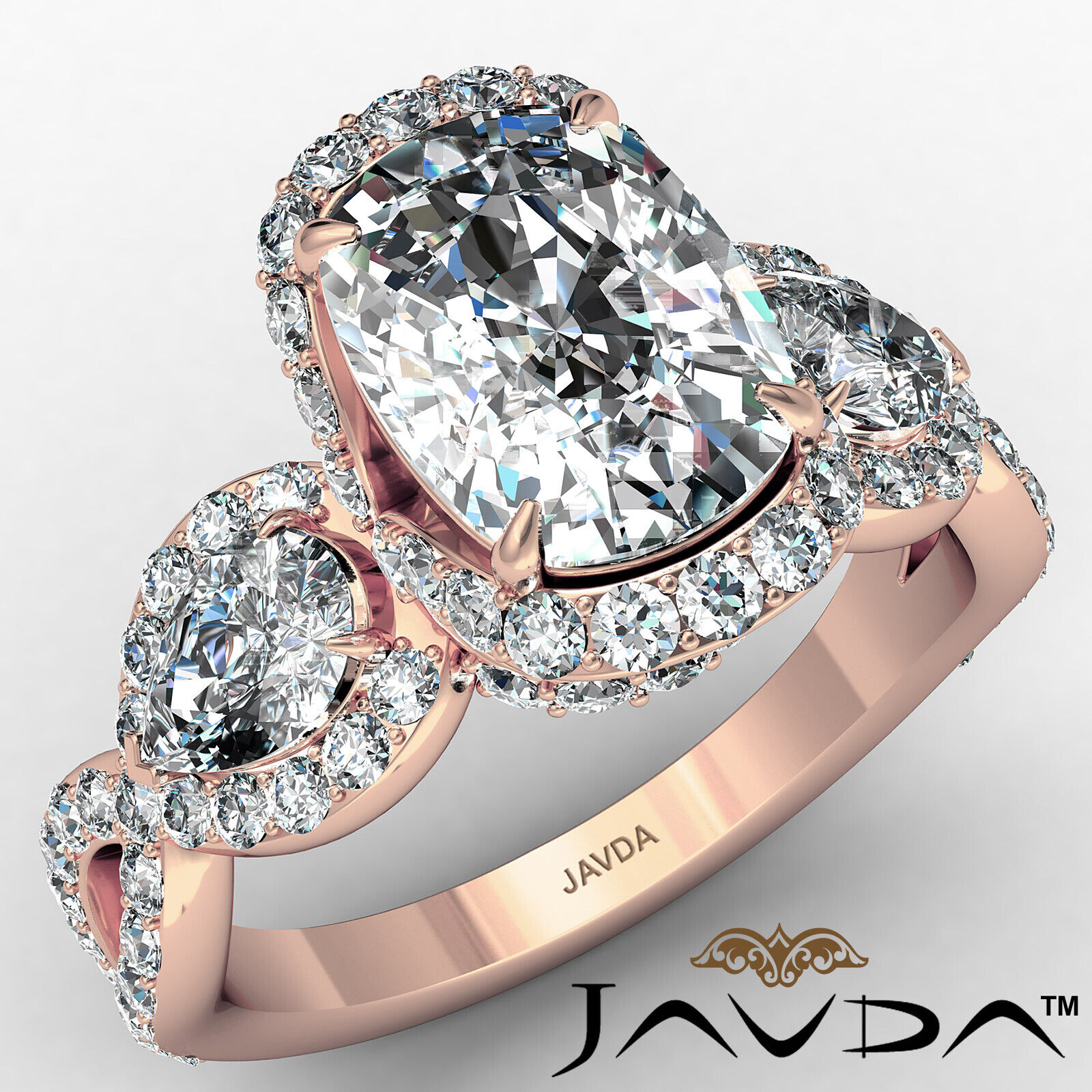 Halo Cushion Diamond Engagement Ring GIA Certified J Color & VS2 clarity 2.4 ctw 2