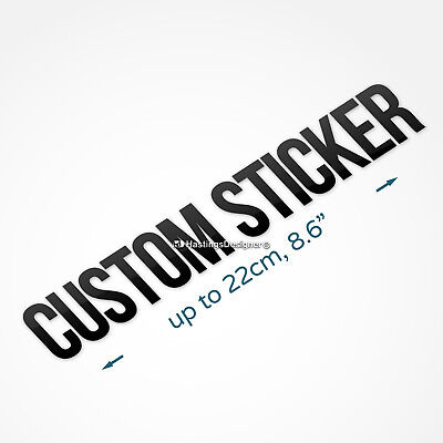 CUSTOM VINYL STICKER Waterproof Personalised Name Text Car,Van,Window,Wall,Sign