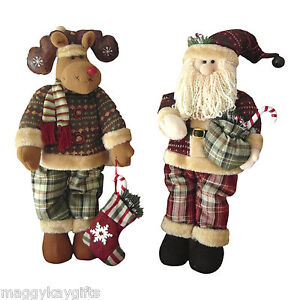 Large-Standing-SANTA-or-RUDOLPH-Christmas-Figures-Decorations-60cm-24-Height