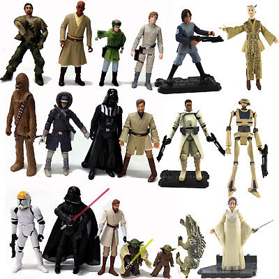 3.75 Inch Star War Figure Darth Vader Clone Trooper Luke Yoda  Leia & Gun Sword - Star War Guns