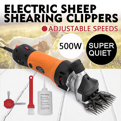 500w Electric Sheep Goat Shears Clippers Animal Shave 2600rpm Compact Aluminum