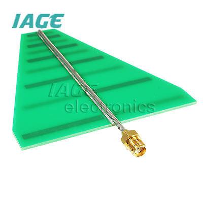 15W 5-6dB 1.35-9.5GHz UWB Ultra Wideband Logarithmisch Period Antenne