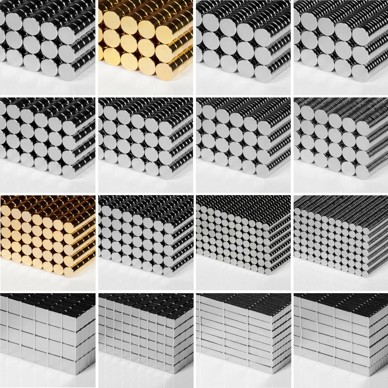 Neodym Magnete - Größe & Anzahl frei wählbar - jetzt zu super Ausverkaufspreisen