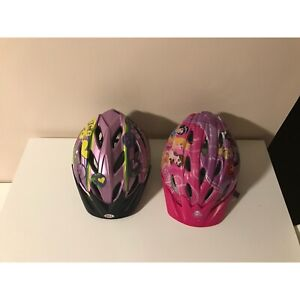 Girls bike helmets (Bell) / in good to excellent condition