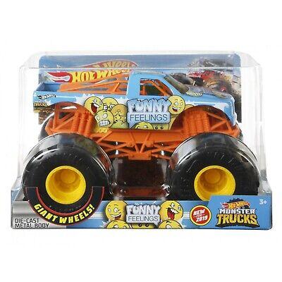 Hot Wheels 2020 Monster Trucks 1:24 Diecast Metal Body - Funny Feelings GBV40