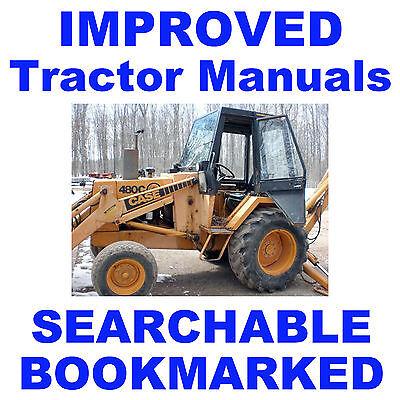 Case 480c 480 C Loader Backhoe Tractor Repair Service Shop Manual Searchable Cd