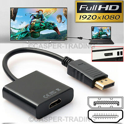 DisplayPort DP Male to HDMI Female Adapter Display Port Converter Cable PC DELL