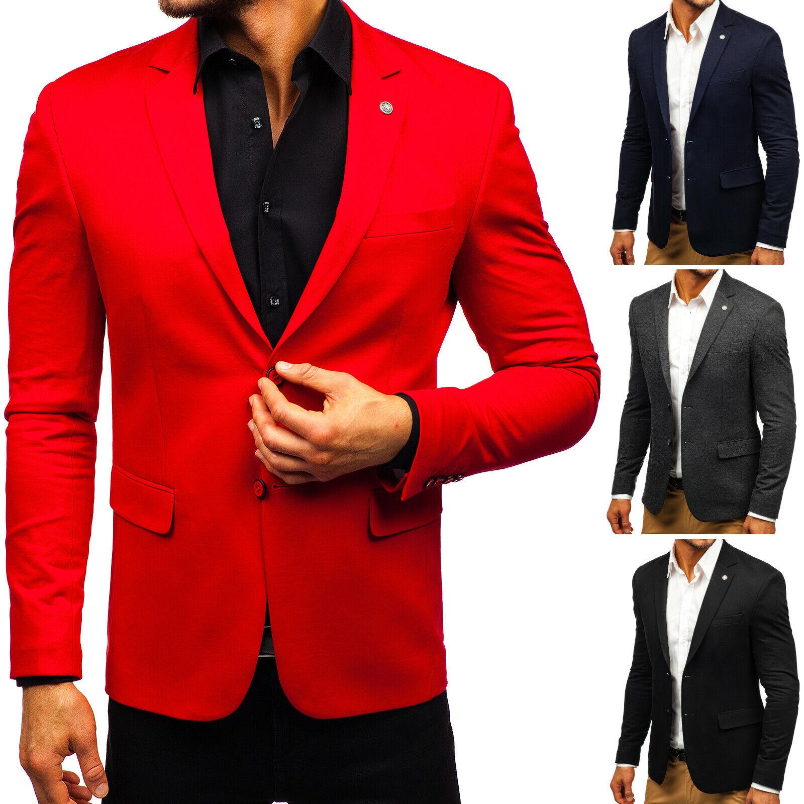 Sakko Jacke Anzug Blazer Sweatjacke Slim Fit Casual Herren Mix BOLF 4D4 Classic