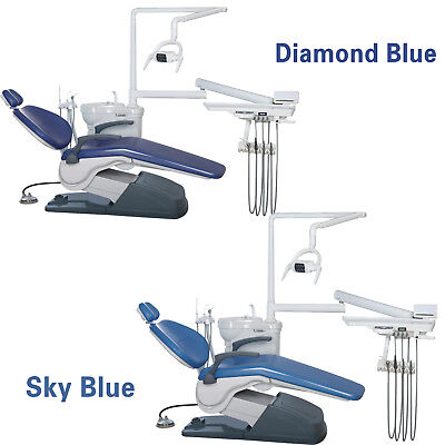 2 Sets Fda Dental Unit Chair A1 Computer Controlled 110v 4 Hole Doctor Stool M4