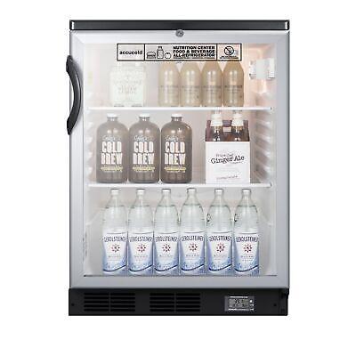Accucold Scr600bglnz One Glass Door Undercounter Nutrition Center Refrigerator