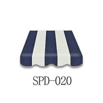 Markisenstoff  Markisen-Bespannung Ersatzstoff OHNE Volant 4 x 2,5m NEU SPD-020