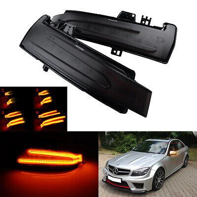 Dynamische Spiegelblinker Dunkel L+R Für Mercedes ML W166,CLA C117,E A207 C207