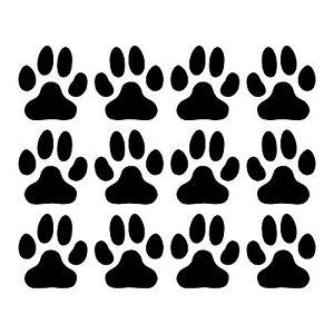 Stickers trace patte de chien ref 6 d coration adh sive - Image patte de chien gratuite ...