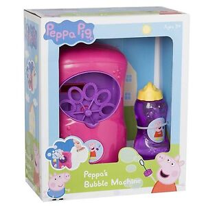 Peepa Pig Peppa's Bubble Machine With Bubble Mixture Outdoor Toy New Boxed