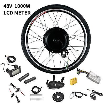 Front Wheel 48V 1000W Electric Bicycle E-Bike Conversion Kit Motor Cycling w/LCD