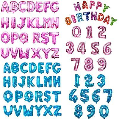 Foil Balloons Baloons Letter & Numbers Birthday Wedding Banner Party Decorations