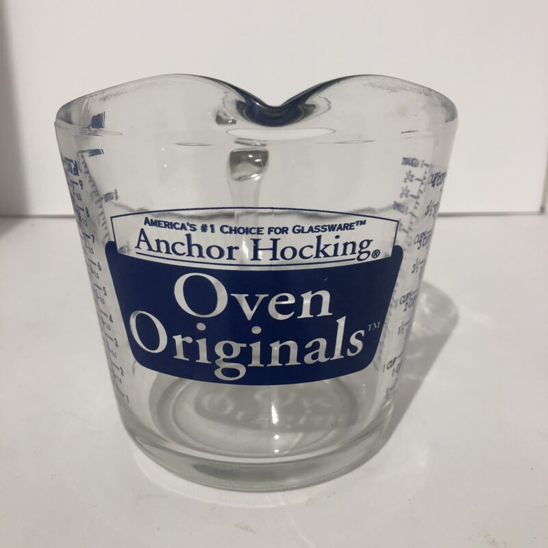 """USED Anchor Hocking """"Oven Originals"""" 4 Cup 32 oz Measuring Cup Glass USA"""