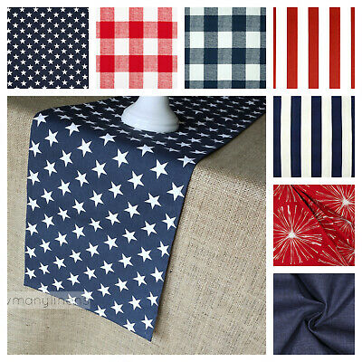 Fourth of July Table Runner Table Centerpiece Stars and Stripes Patriotic Decor