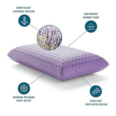 Best Pillow Calming Relaxation Lavender Infused Memory Foam Ventilated